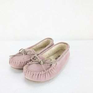 Minnetonka Womens Slip On Ballet Flat Loafers Sz 7